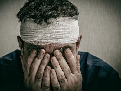 Травма является причиной боли во лбу